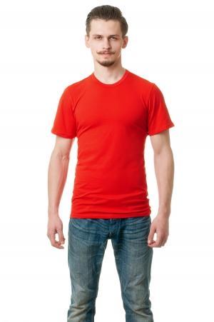 Футболка мужская 6706 - красный