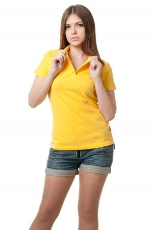 Футболка женская Поло Lider2807- желтый