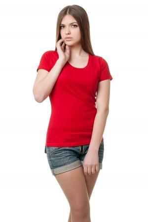 Футболка женская с круглой горловиной 8515 - красный