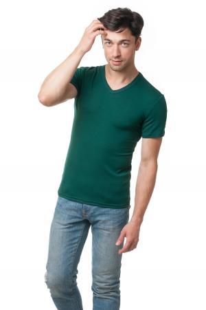 Футболка мужская c V вырезом AndreStar - темно-зеленый 2413