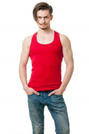 Майка борцовка - красный2952
