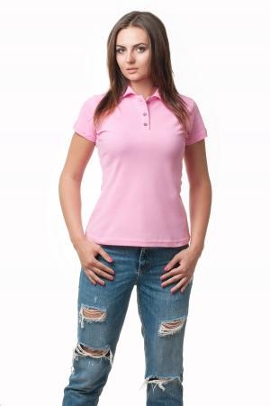 Женская футболка Поло Lider2806 - розовый