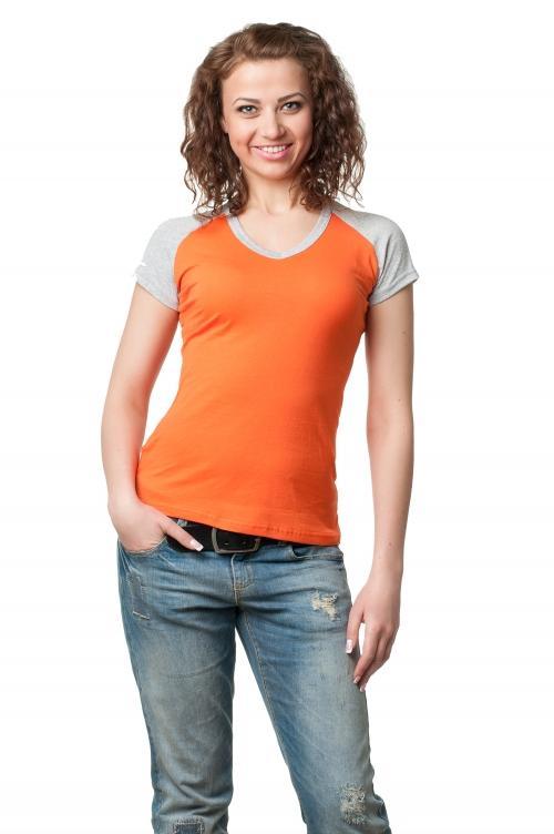 Футболка женская серии 2200-4 - оранжевый