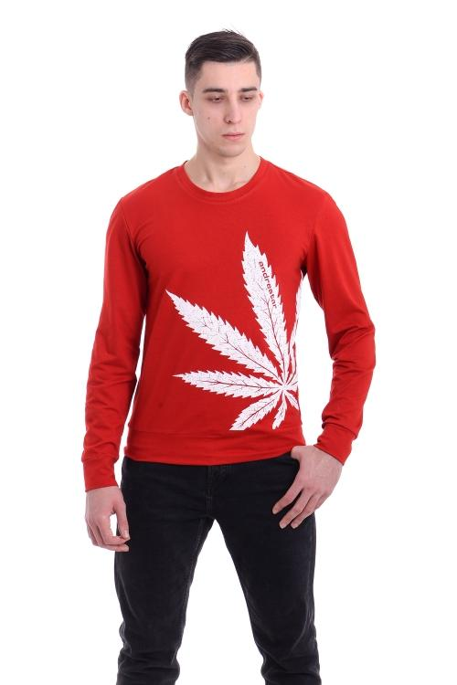 Свитшот Cannabis  - 3351 красный