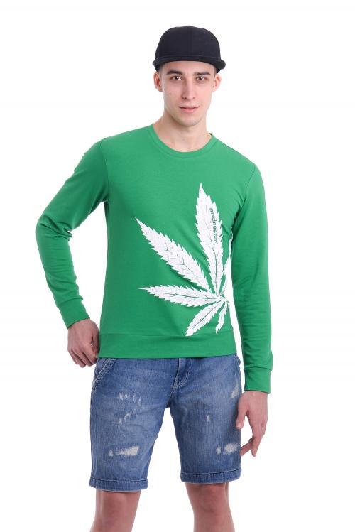 Свитшот Cannabis - 3353 зеленый