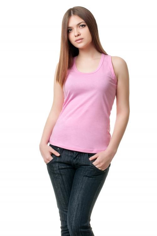 Борцовка женская - розовый 9987