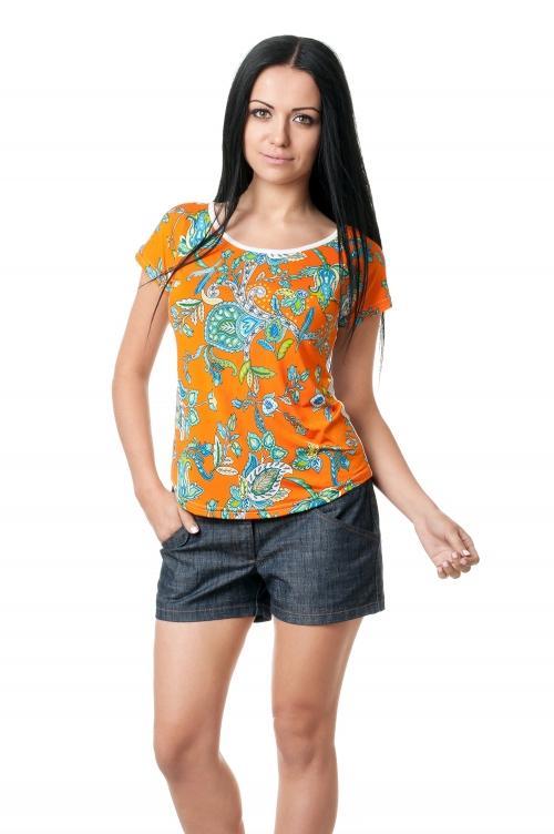 Женская вискозная футболка - 1008