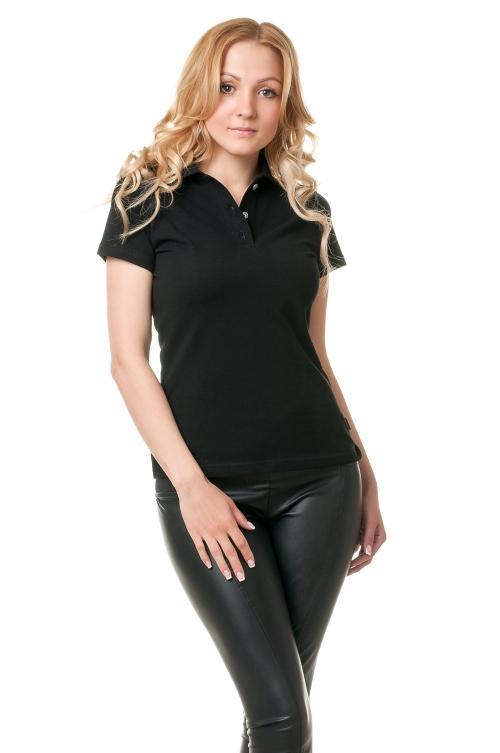 Женская футболка Поло Lider 2810 - черный