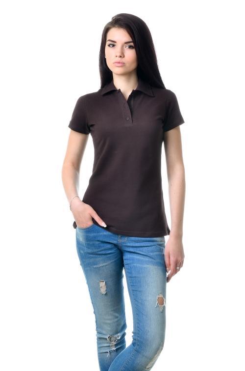 Женская футболка Поло Lider 2814 - коричневый