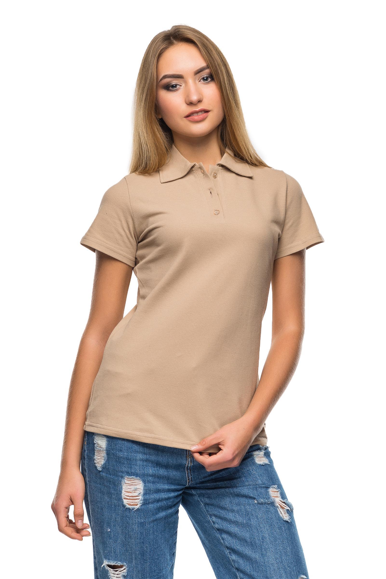 ebdf1f407c2da Купить Женская футболка Polo какао оптом и в розницу - AndreStar ...