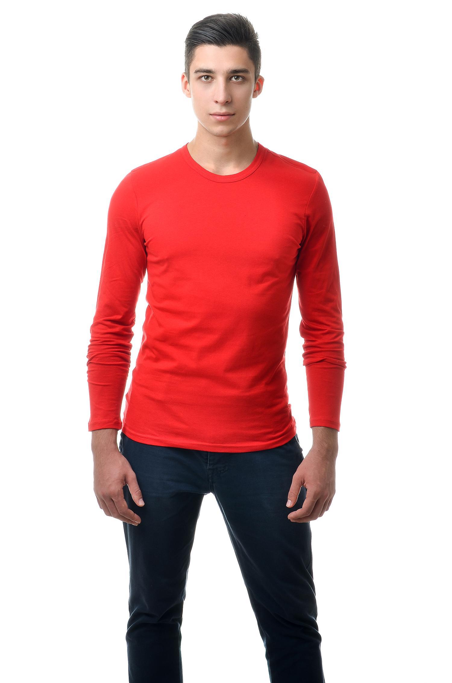 Купить футболку с длинным рукавом красный оптом и в розницу - AndreStar 564d1f318b84d