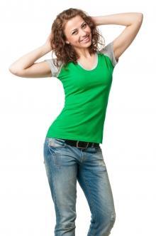 Футболка женская серии 2200-1 - зеленый