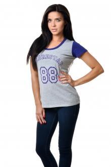 Футболка женская 2600 - меланж + фиолет