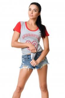 Футболка женская 2606 - красный