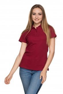 Женская футболка Polo - 2820 - бордо