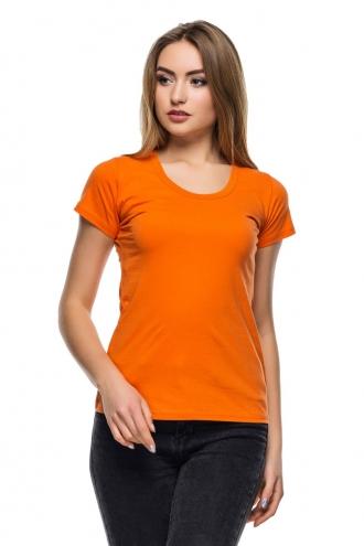 Футболка женская с круглой горловиной 8528 - оранжевый