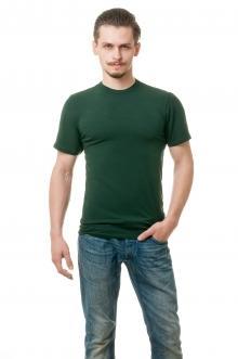 Футболка мужская 6704 - темно-зеленый
