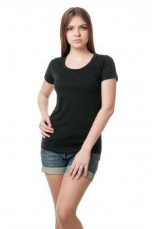 Футболка женская с круглой горловиной 8517 - черный