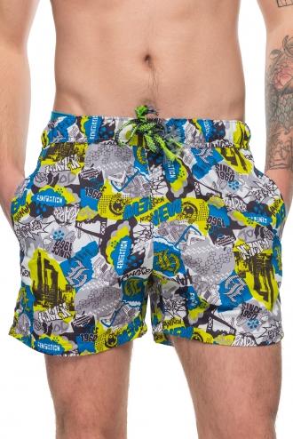 Шорты пляжные мужские серые