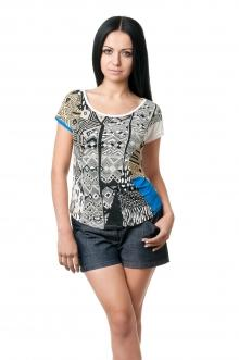 Женская вискозная футболка - 1007