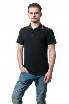 Футболка Polo Эгоист7028 - черный (карман)
