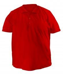 Футболка Polo больших размеров - 7019 красный
