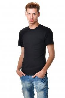 Однотонная черная футболка  AndreStar 3014