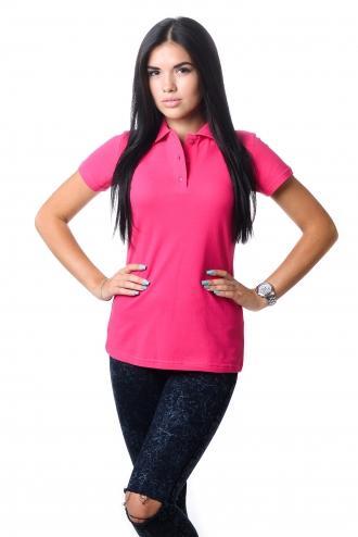 Женская футболка Polo малиновая