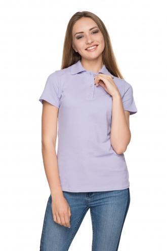 Женская футболка Polo сиреневая