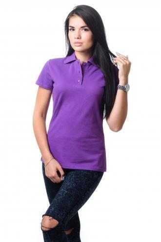 Женская футболка Polo Темно-сиреневая