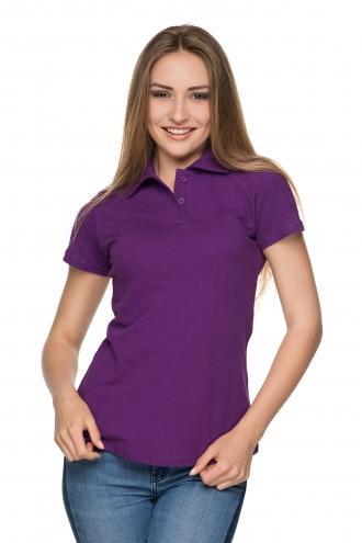 Женская футболка Polo - 2819 - фуксия