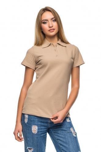 Женская футболка Polo - 2821 - какао