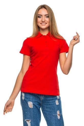 Женская футболка Polo коралловая