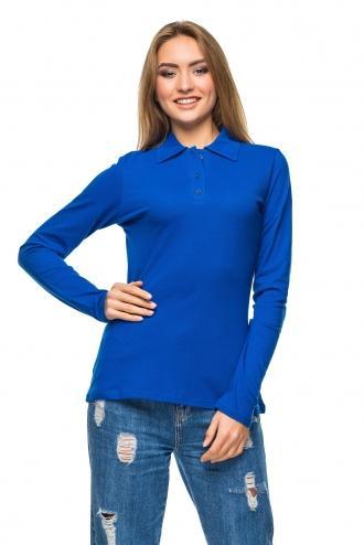 Женская футболка Polo с длинным рукавом электрик