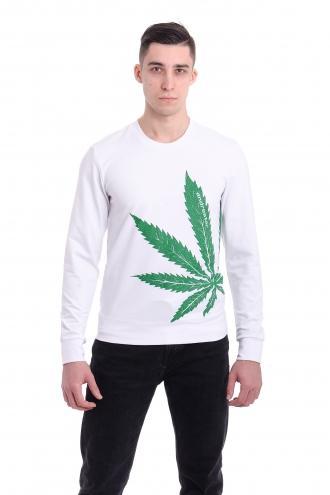 Свитшот Cannabis  - 3350 белая