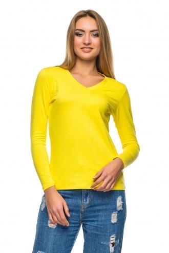 Футболка женская с длинным рукавом - 4502 желтый
