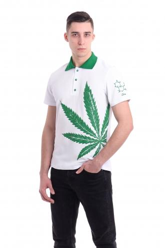 Футболка Polo - 7047 cannabis