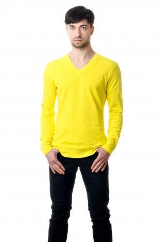 Реглан с V вырезом - желтый 8112