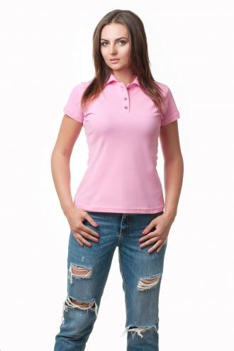 Женская футболка Поло розовая