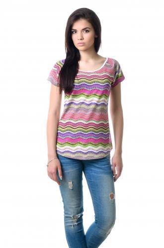 Женская вискозная футболка - 1021