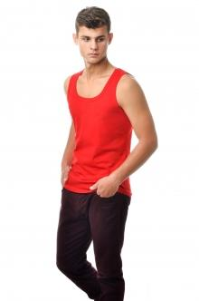 Майка мужская - красный2903