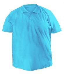 Футболку Polo большая - 7020 голубой