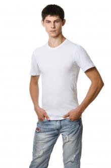 Однотонная белая футболка 3003