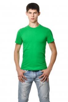 "Однотонная футболка мужская AndreStar 3023 - зеленый ""трава"""